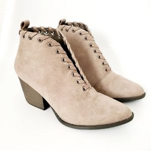 Coconuts by Matisse Taupe Pointed Toe Ankle Boots